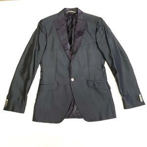Dolce & Gabbana Cotton Blazer Jacket - Blue